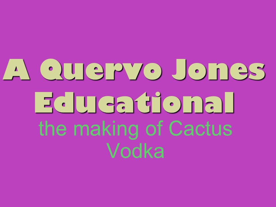 Ever asked yourself, How DOES Dvesty make vodka out of cactuses? No? Well, here we go anyway...