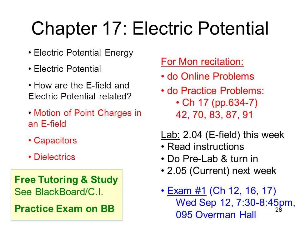 27 §17.5 Capacitors A capacitor stores electric potential energy by storing separated (+) and (–) charges.
