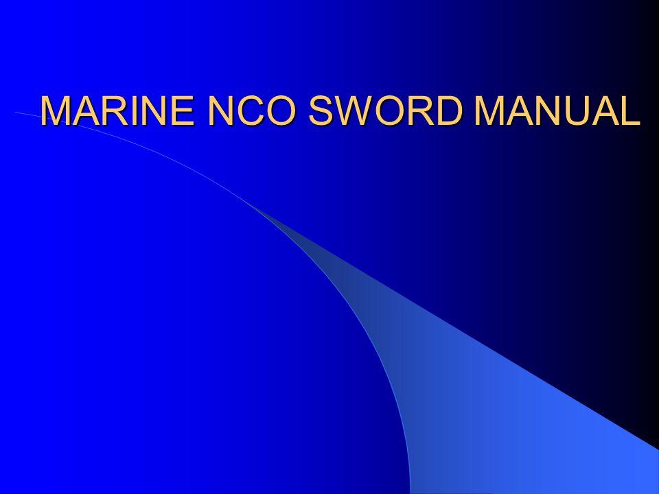 MARINE NCO SWORD MANUAL