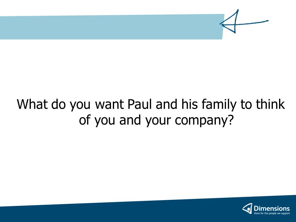 How will you help Paul decide what he wants?