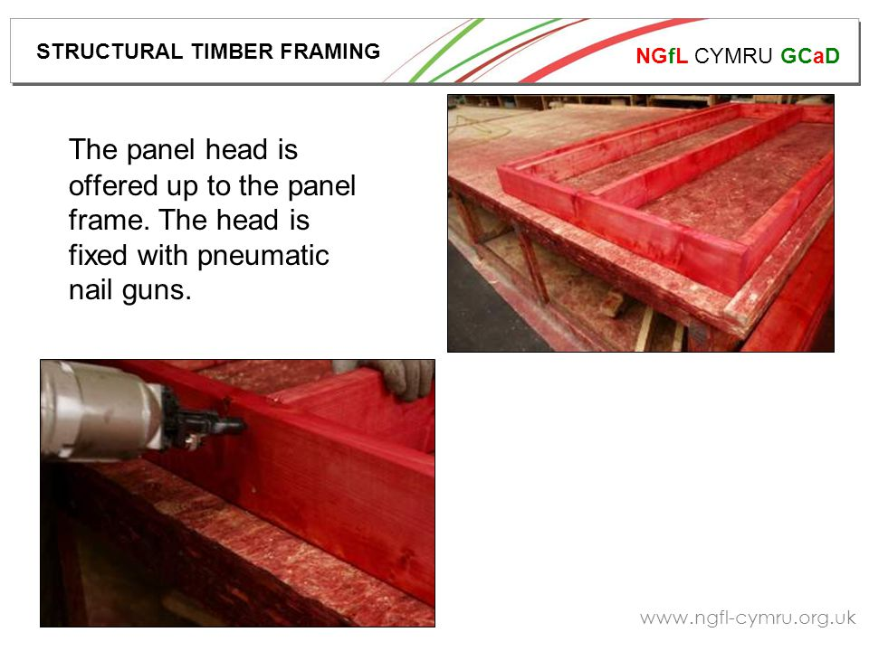 NGfL CYMRU GCaD www.ngfl-cymru.org.uk Right – nails fixed to timber.
