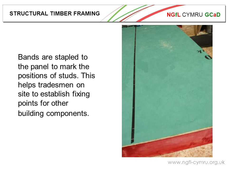 NGfL CYMRU GCaD www.ngfl-cymru.org.uk JOISTS Joists are structural components that span the width of a building.