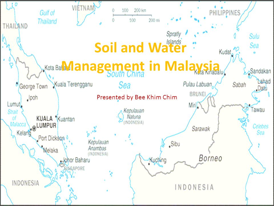 Introduction Southeast Asia (13 States and 3 Federal Territories) land area of 336,745 km 2 Capital: Kuala Lumpur separated by the South China Sea Ethnic: Malay (54%), Chinese (25%), Indian (7.5%) and Bumiputra and others (13%) Summer all the year and Monsoon season.
