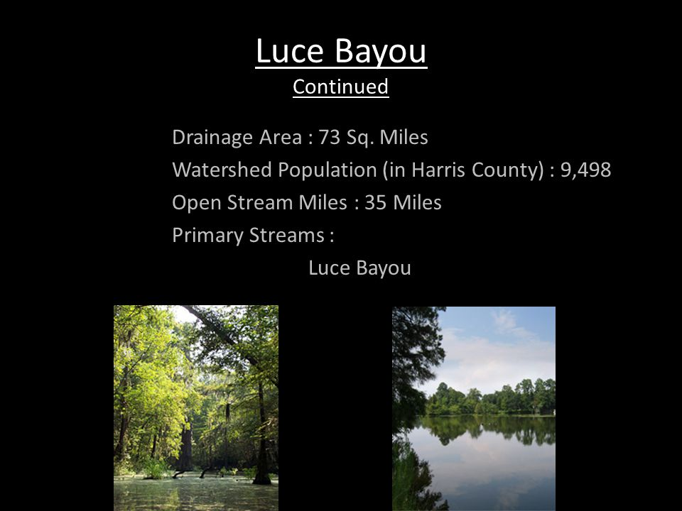 Vince Bayou The Vince Bayou watershed is located in southeast Harris County.