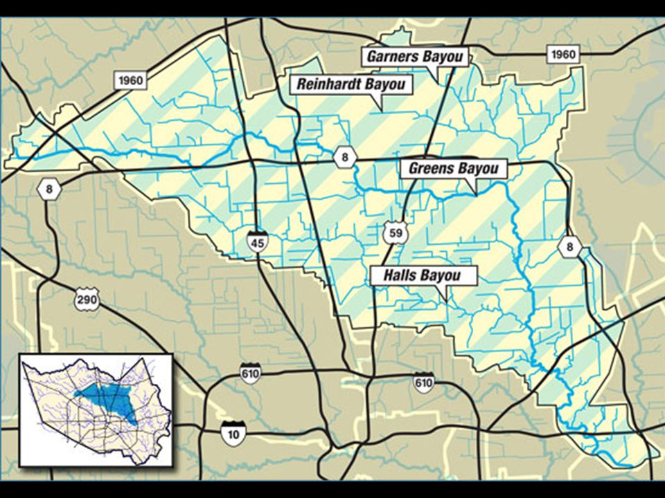 Halls Bayou As a tributary of Greens Bayou, Halls Bayou is located in north central Harris County and includes the City of Houston and unincorporated areas of Harris County, with approximately 197,000 people living in the area.
