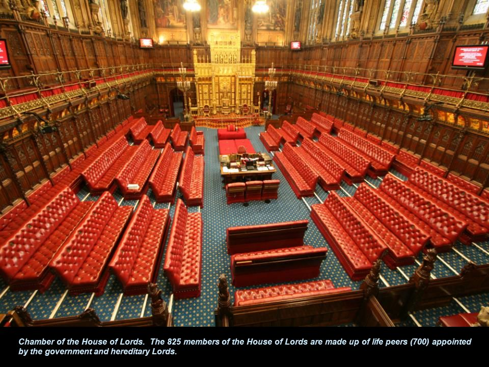 Chamber of the House of Lords.