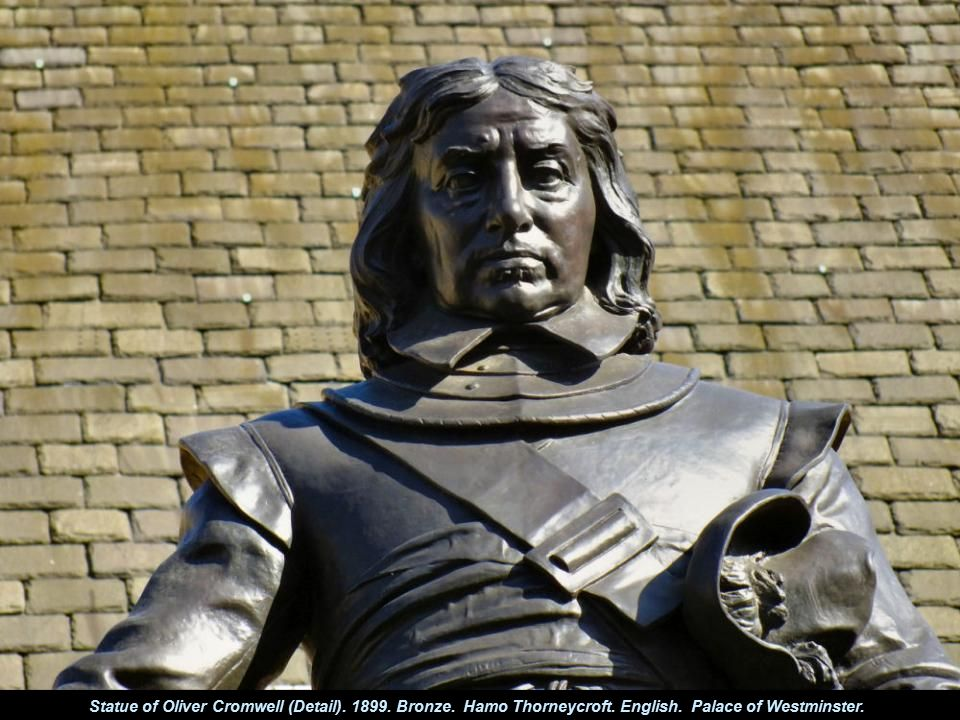 Statue of Oliver Cromwell (Detail).1899. Bronze. Hamo Thorneycroft.