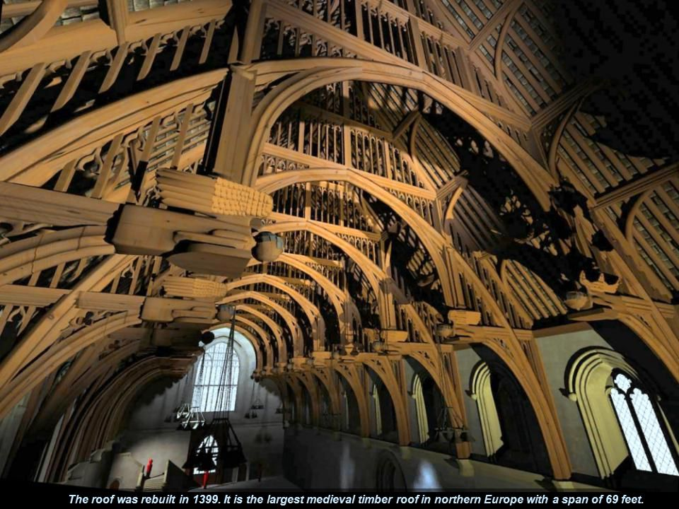 The roof was rebuilt in 1399.