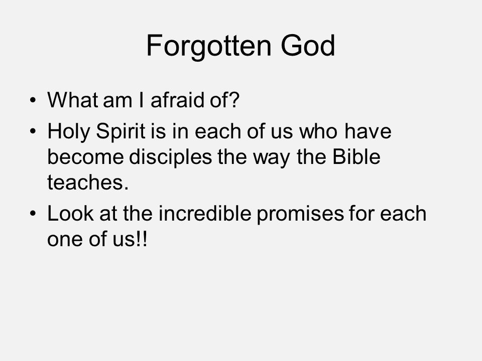 Discussion Questions ① First 10 minutes: Individually read over the list of how the Holy Spirit works in each of us & look at the referenced Scriptures while doing this (handout).