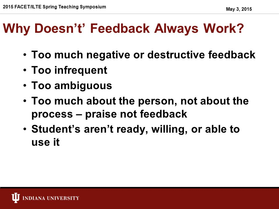 Some Feedback Statements Made to IUS Students.(source: IUS, Writing Center) Awk.