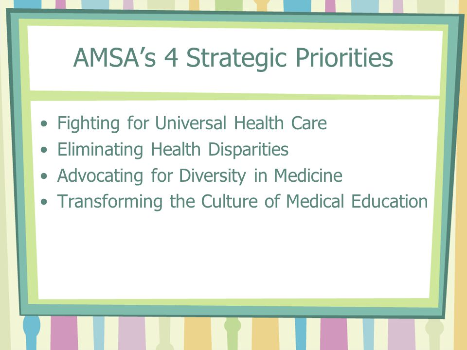 AMSA's Universal Health Care Definition Universal health care refers to the idea that every American should have access to affordable, high-quality health care