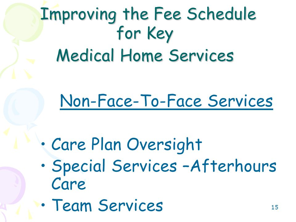 16 Care Plan Oversight- Why a Key Service for the Medical Home.