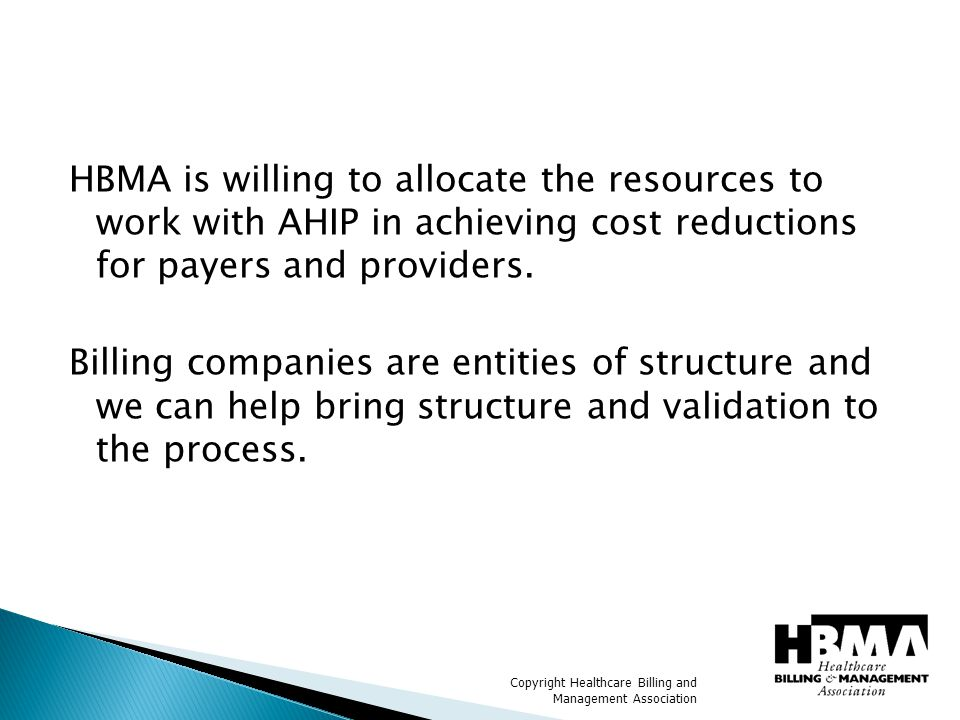 Copyright Healthcare Billing and Management Association QUESTIONS? ??????????