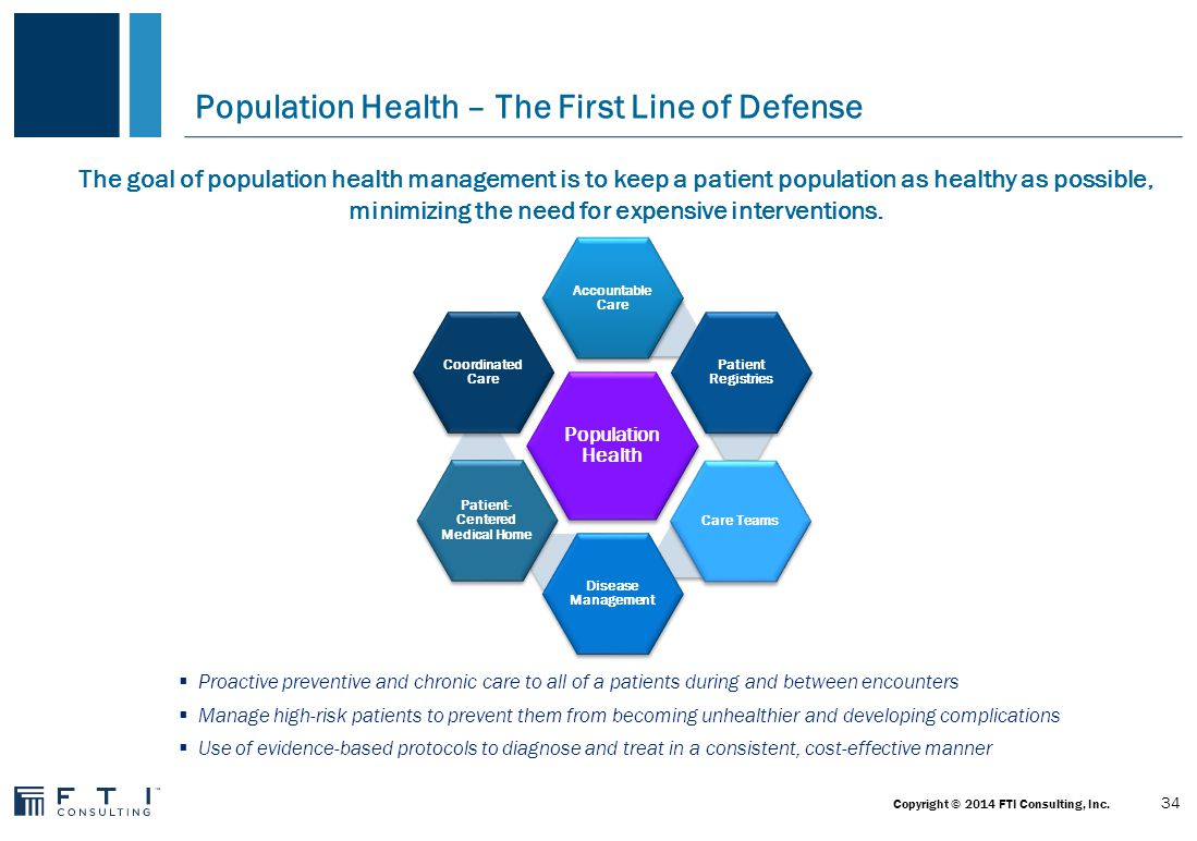 Population Health: Transitioning to Value is a Huge Change 35 Copyright © 2014 FTI Consulting, Inc.