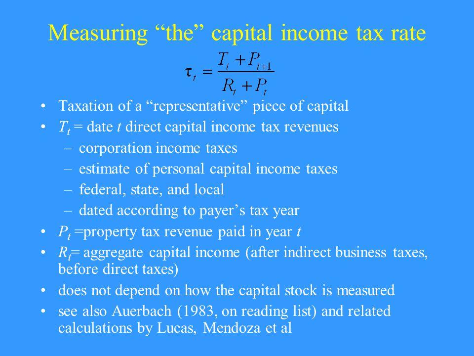 Capital Taxation Over Time