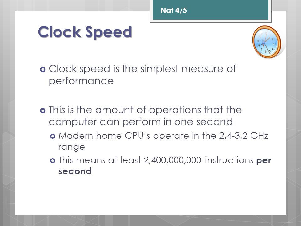 Speed isn t everything  Some processors have 2, four or six cores  2,3,4,6, 8 or 16 cores are the usual options  This means that there are 2, 4 or 6 smaller processors built into a single processor.