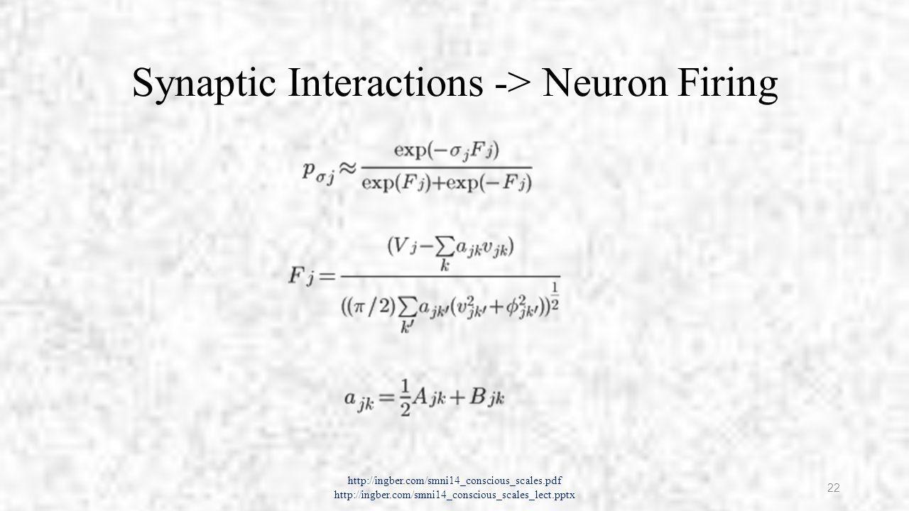 SMNI Lagrangian http://ingber.com/smni14_conscious_scales.pdf http://ingber.com/smni14_conscious_scales_lect.pptx 23