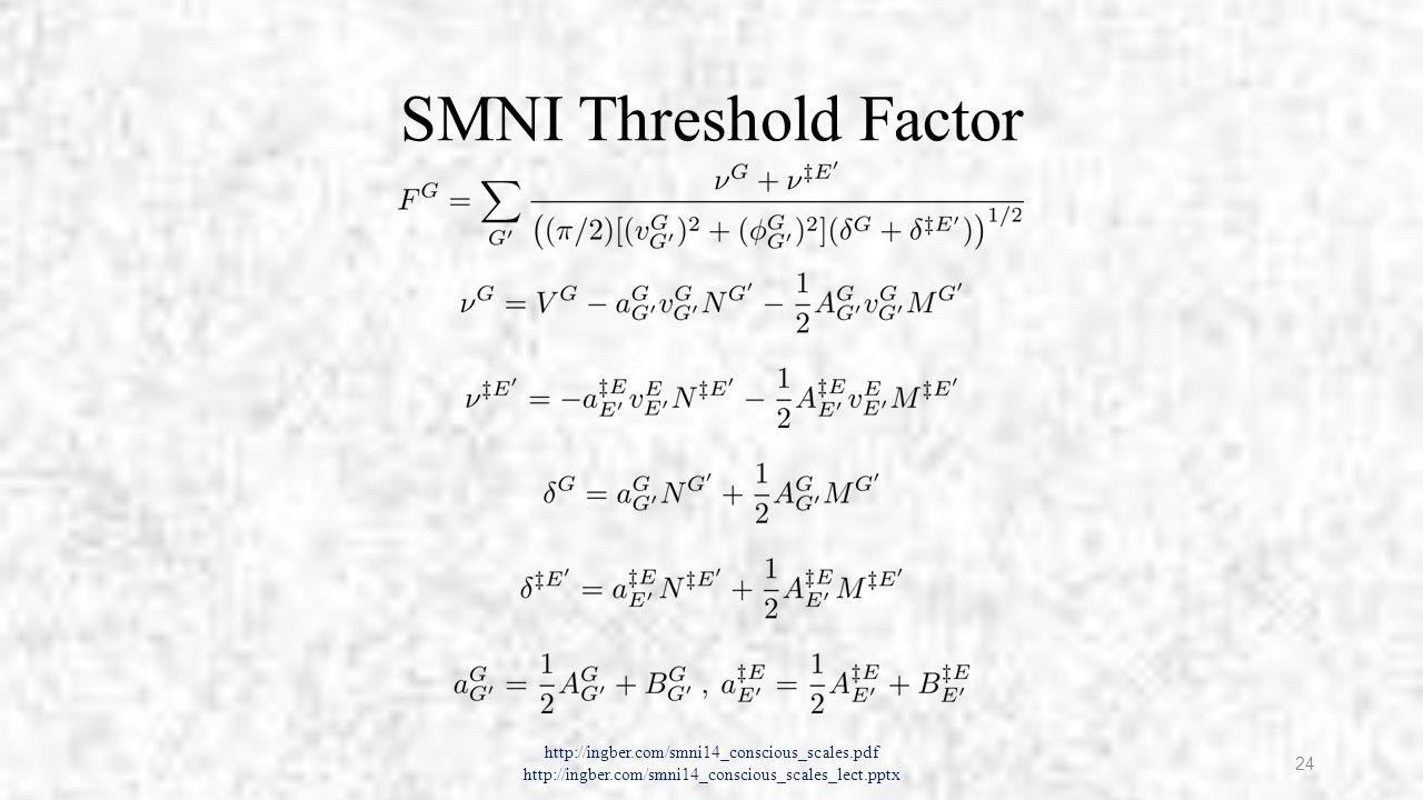 Intuitive Lagrangian L of Firings M http://ingber.com/smni14_conscious_scales.pdf http://ingber.com/smni14_conscious_scales_lect.pptx 25