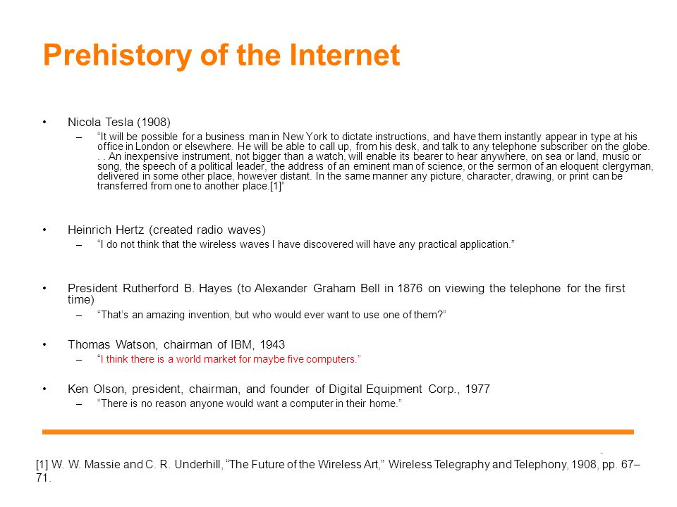 History of the Internet Research thread; Leonard Kleinrock; Paul Baran; Donald Davies; ARPA (Advanced Research Project Agency) thread; J.