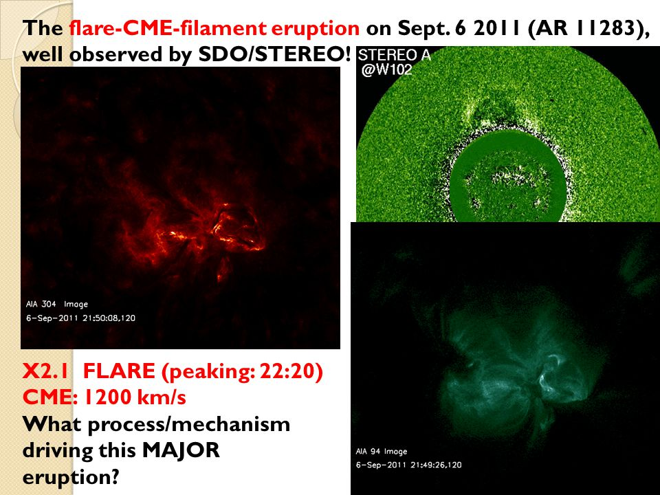 First, examine the sunspot evolution in ~12 hs pre-eruption  Apparent sunspot rotation in ~6 hs before the eruption!