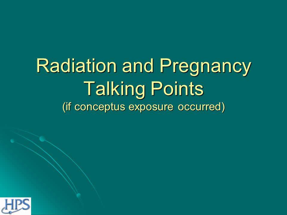 Talking Points Childhood cancer from in utero exposure Childhood cancer from in utero exposure Likelihood of not developing cancer with no radiation exposure is 99.93 percent.