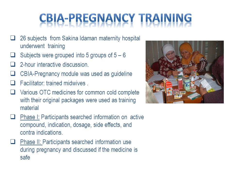 CBIA Pregnancy improves knowledge and skills 1.Knowledge on the Most Familiar Medicine 2.