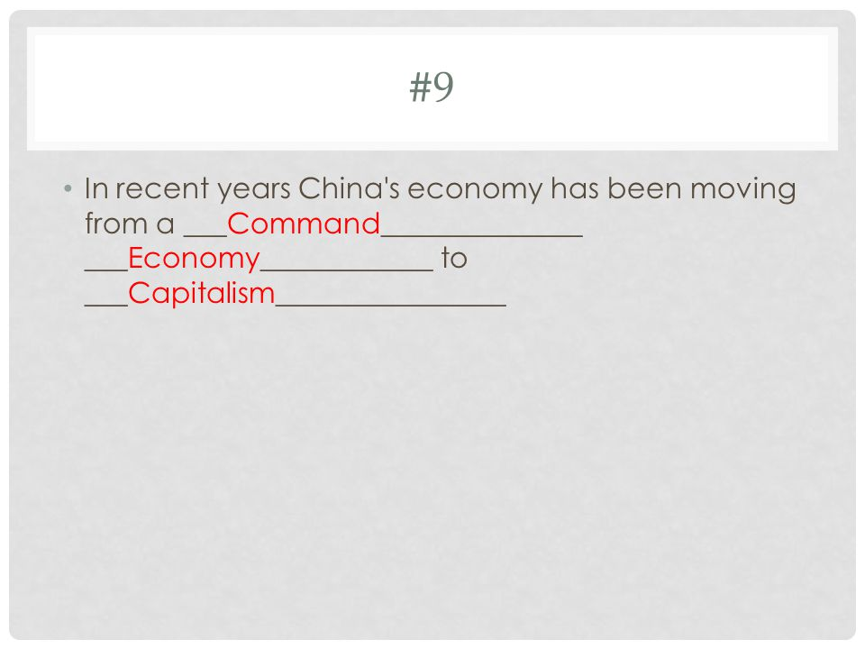 #10 Which countries in East Asia BEST represent countries A and B ? ChinaJapan