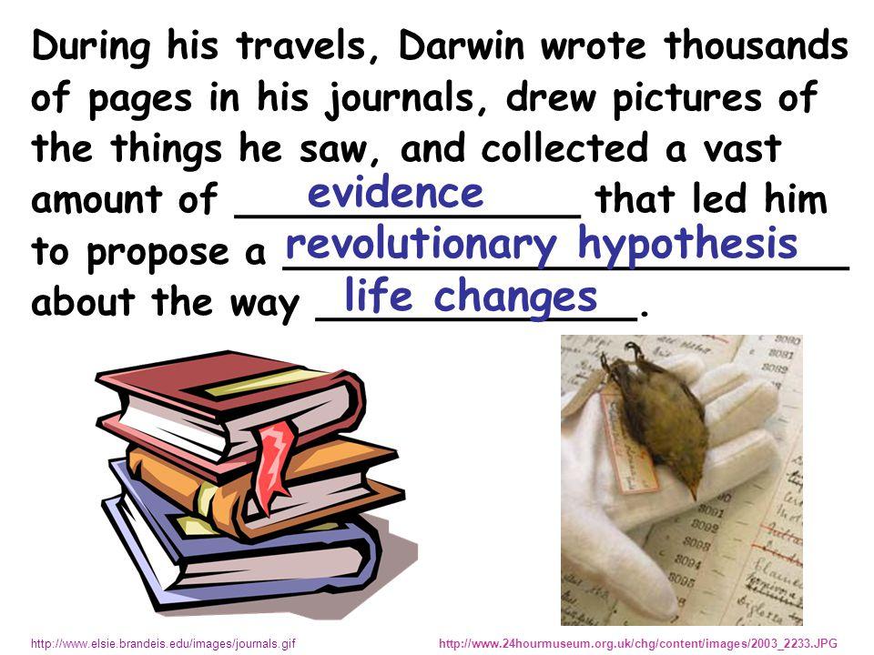 DARWIN WONDERED.
