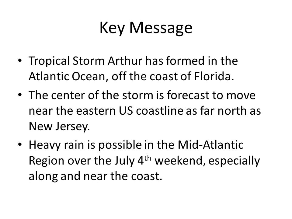 Important! Heavy rain and flooding can occur sooner, and further inland, of the storm's center.