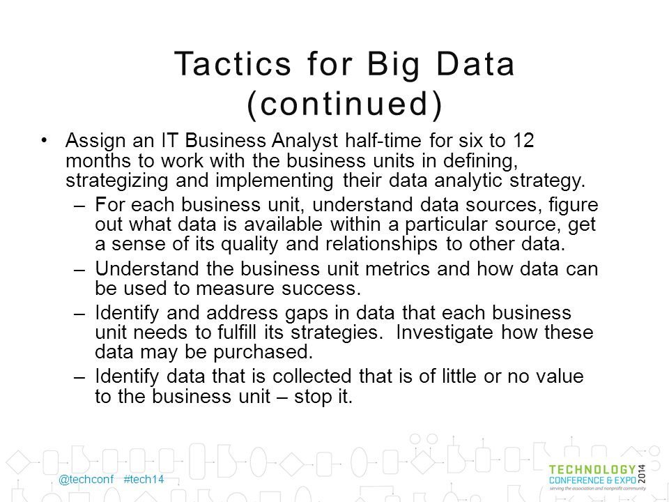 @techconf #tech14 Are you a candidate for a Big Data solution.