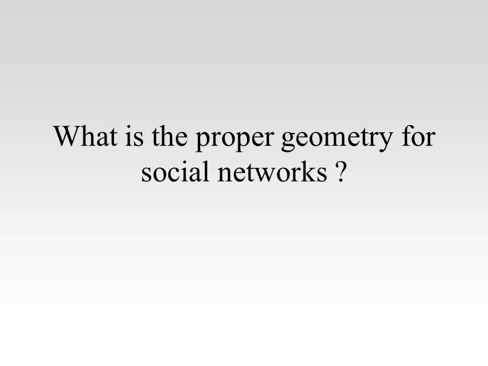 What is the proper geometry for social networks ?