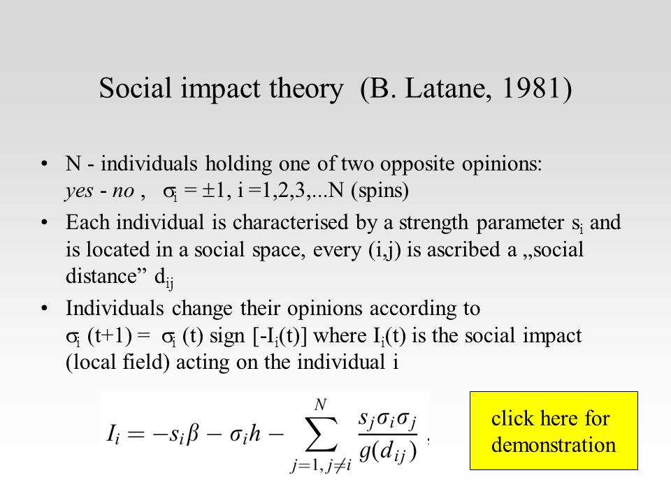Social impact theory (B.