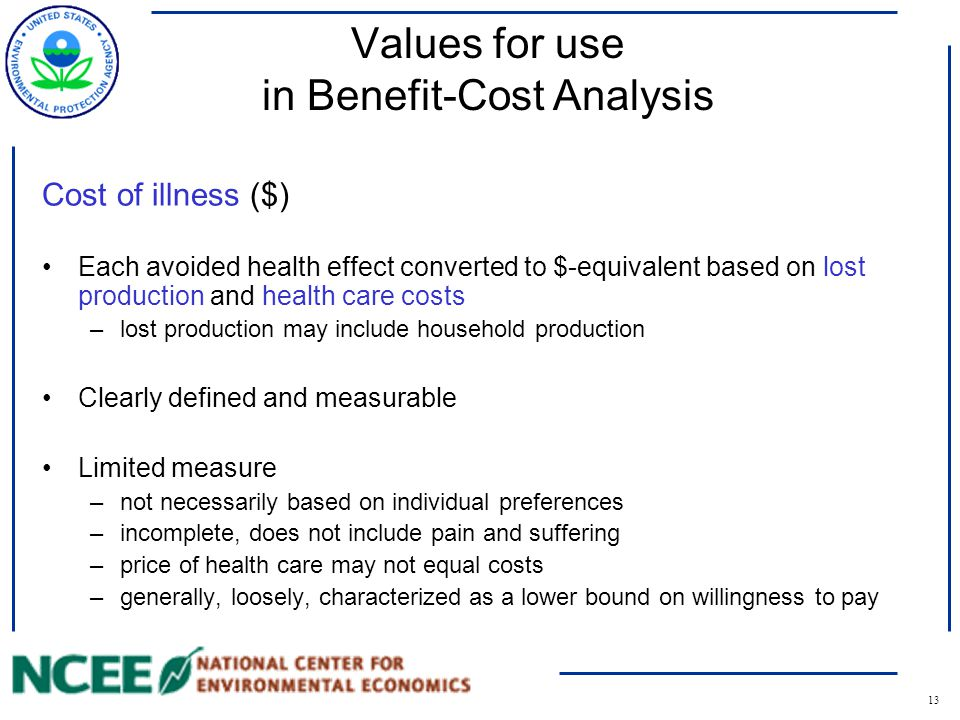 14 Willingness to Pay Willingness to Pay for risk reduction ($) Each avoided health effect converted to $ based on preferences of the individuals affected Well-being is expressed in a general utility function: Utility=(health, all other goods) Willingness to pay is...