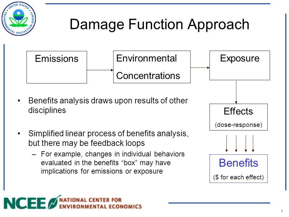 6 From Risk Assessment to Economics Should focus on well-defined health endpoints that have an effect on individual sense of well-being.