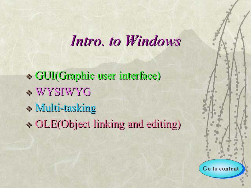 Go to content Intro.