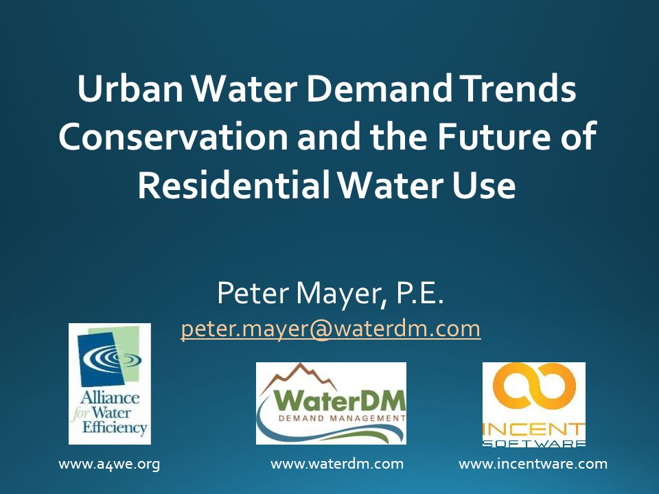 Water Demand Management: Why? Water shortages Expensive to develop new supplies Climate change