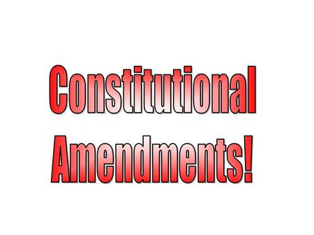 How to Amend! The process for amending the Constitution is stated in Article IV (4) of the US Constitution.