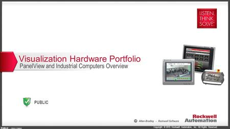 Copyright © 2015 Rockwell Automation, Inc. All Rights Reserved. PUBLIC PUBLIC - 5058-CO900G Visualization Hardware Portfolio PanelView and Industrial Computers.