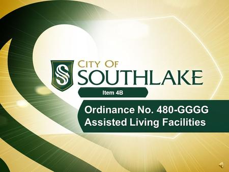 Ordinance No. 480-GGGG Assisted Living Facilities Item 4B.