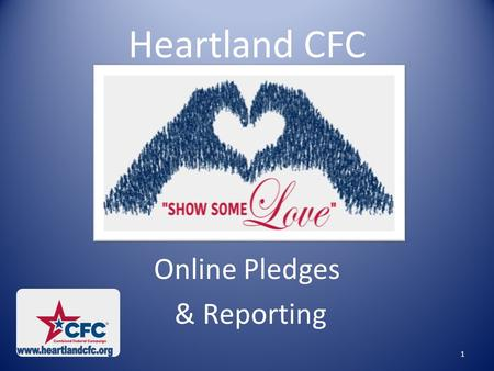 Heartland CFC Online Pledges & Reporting 1. ONLINE GIVING Pledges can be made through the following online donation systems:  Employee Express (EEX)