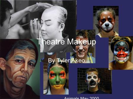 By Tyler Akeo Theatre Makeup. Stage Makeup an Intro Makeup is whatever an actor uses to enhance the skin or face to achieve such things as race, identity,