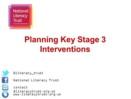 Planning Key Stage 3 National Literacy Trust