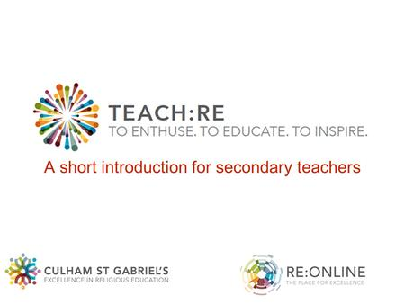A short introduction for secondary teachers.
