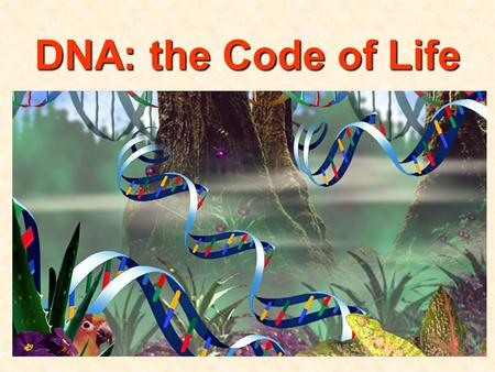 DNA: the Code of Life. Basic Requirements For Genetic Material 1)Carry genetic information from cell to cell, generation to generation LOTS of info!!!