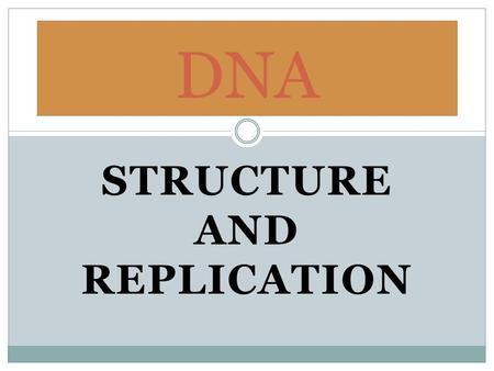 STRUCTURE AND REPLICATION DNA. What is DNA? DNA stands for Deoxyribonucleic acid It is a double helical shape- or like a twisted ladder Found in the nucleus.