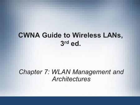 cwna guide to wireless lan