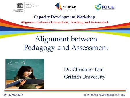 Alignment between Pedagogy and Assessment Dr. Christine Tom Griffith University.