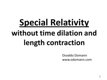 Time dilation and length contraction