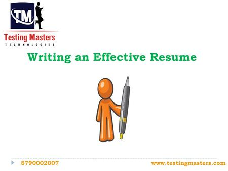 Writing an Effective Resume 8790002007