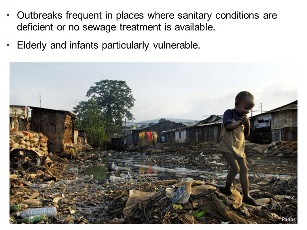 19 Health concern #1 in areas affected by natural disasters.